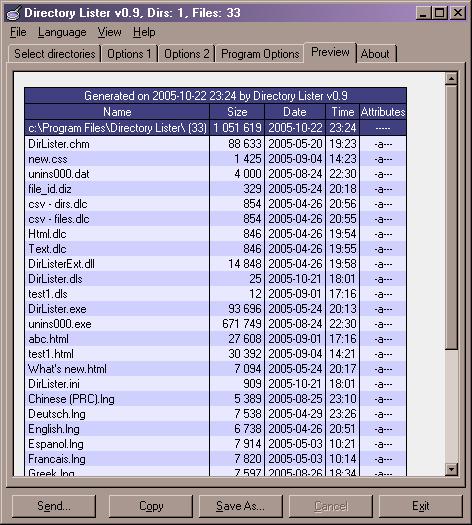 Directory Lister Screenshot 1