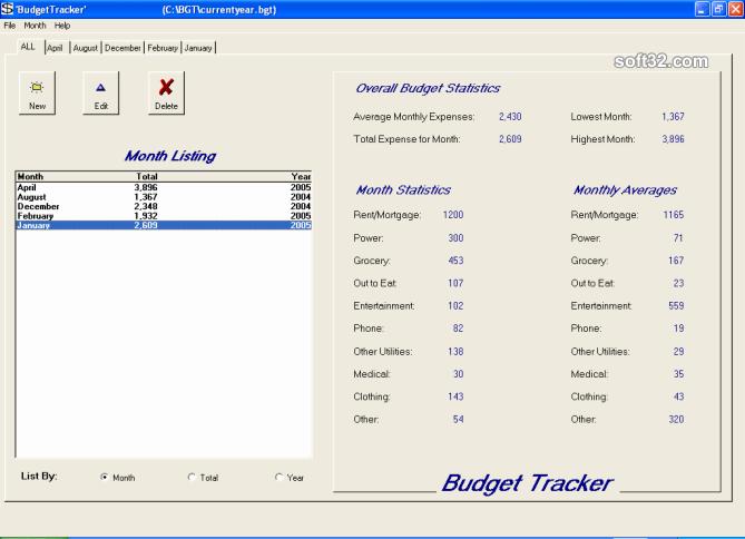 Budget Tracker Screenshot 3