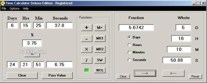 Time Calculator Deluxe Edition Screenshot 1
