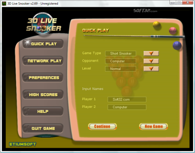 3D Live Snooker Screenshot 2