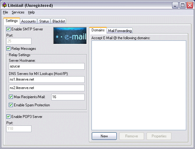 LiteMail Screenshot