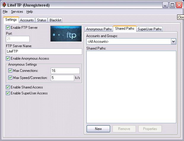 LiteFTP Screenshot 1