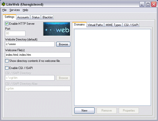 LiteWeb Screenshot