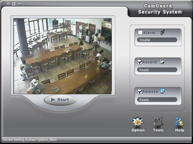 CamGuard Security System Screenshot