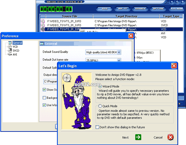 Amigo DVD Ripper Screenshot 1