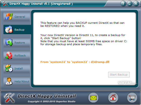 DirectX Happy Uninstall Screenshot 2