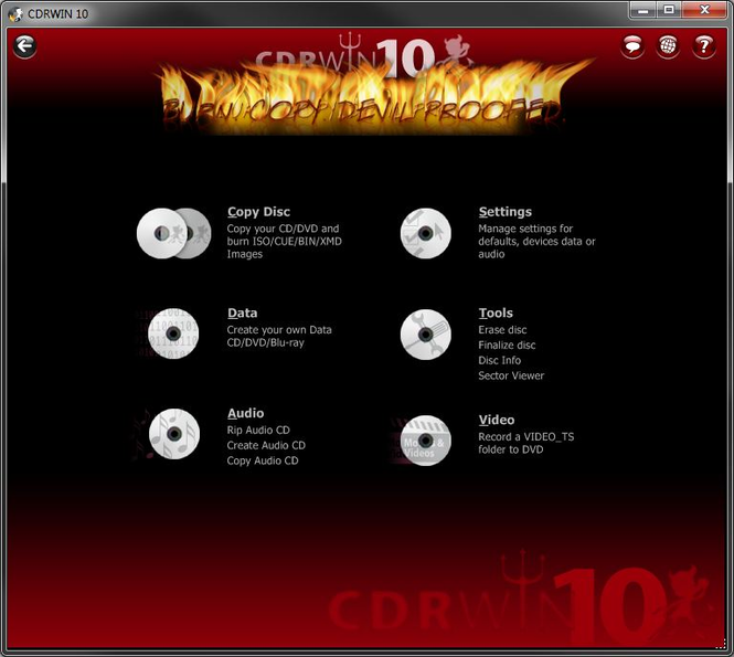 CDRWIN Screenshot 1