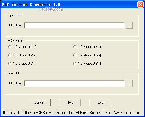 PDF Version Converter Screenshot 2