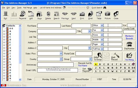 The Address Manager Screenshot 2