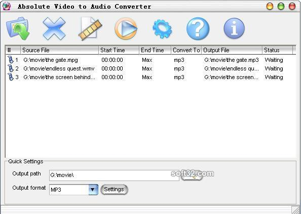 Absolute Video to Audio Converter Screenshot 3