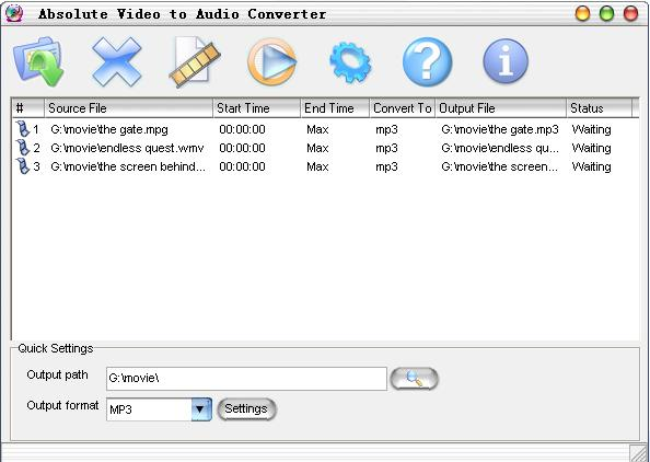 Absolute Video to Audio Converter Screenshot 2