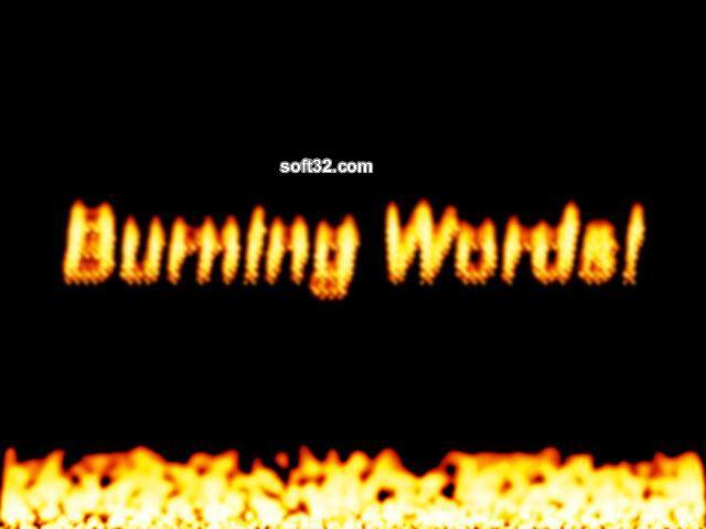 Burning Words Screensaver Screenshot 3