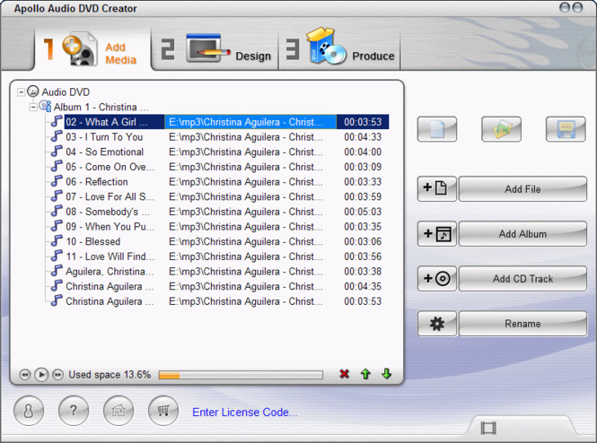 Apollo Audio DVD Creator Screenshot 1