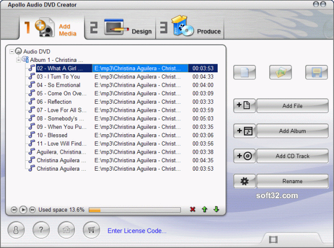 Apollo Audio DVD Creator Screenshot 2