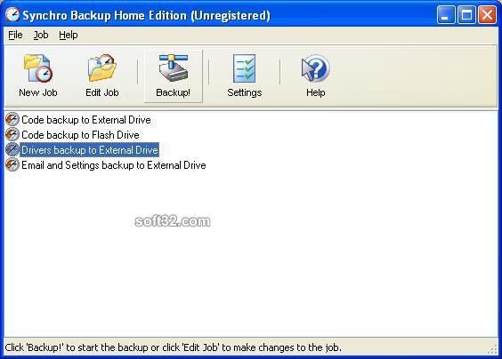 Synchro Backup Home Edition Screenshot 3