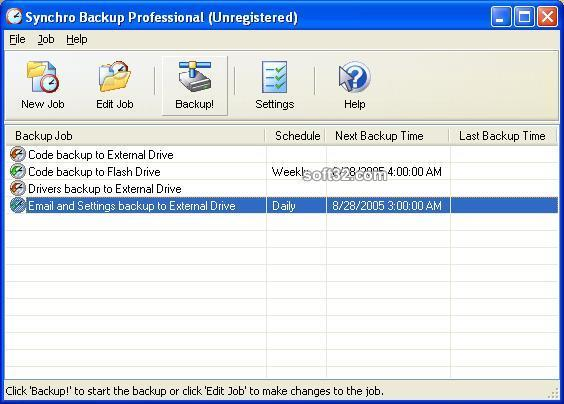 Synchro Backup Professional Screenshot 3