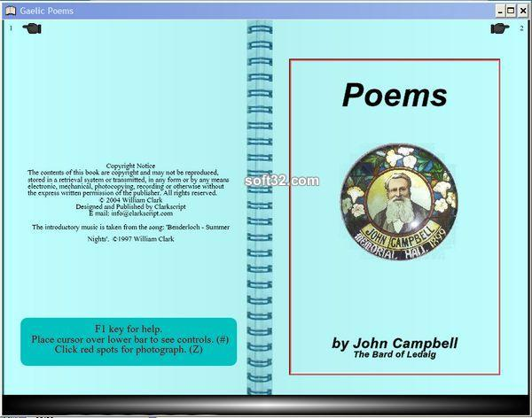 Gaelic Poems Screenshot