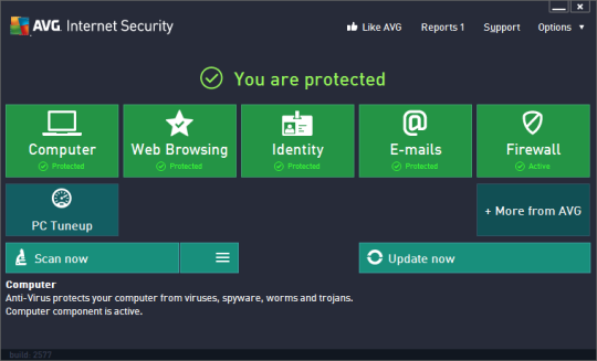 AVG Internet Security Screenshot