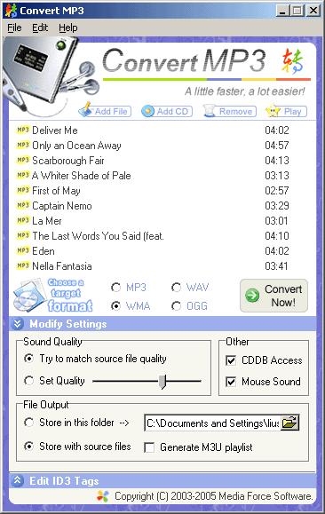 Convert MP3 Screenshot 1