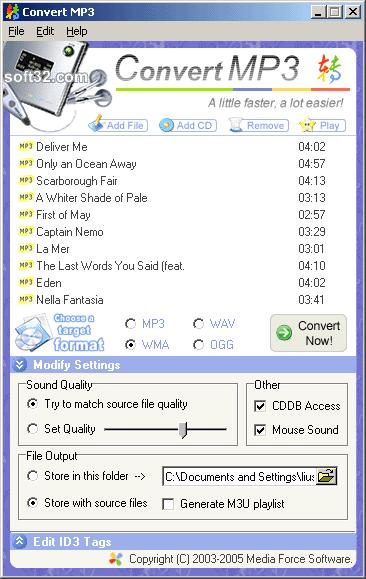Convert MP3 Screenshot 2