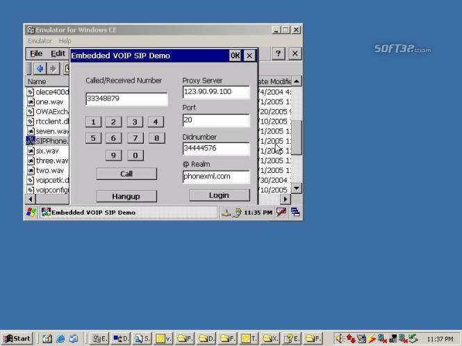Embedded VOIP SIP Developers Kit Screenshot