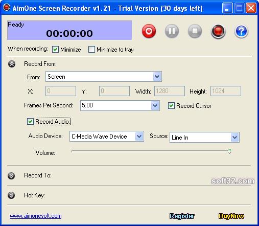 AimOne Screen Recorder Screenshot 2