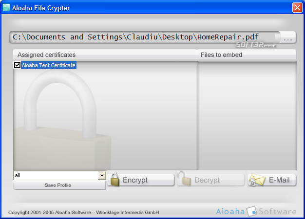 Aloaha PDF Crypter Screenshot 2