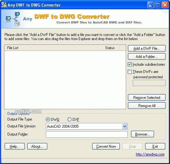 DWF to DWG Convert Screenshot 2