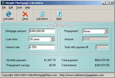 Simple Mortgage Calculator Screenshot 2