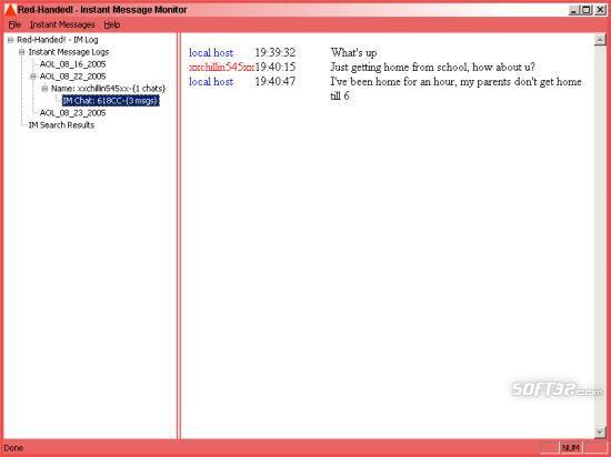 RedHanded.Net: Record Instant Messages Screenshot 3