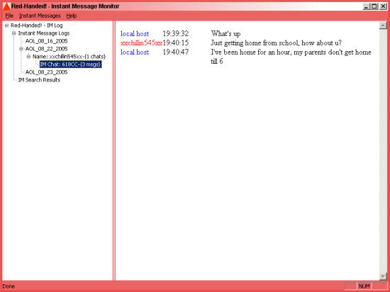 RedHanded.Net: Record Instant Messages Screenshot