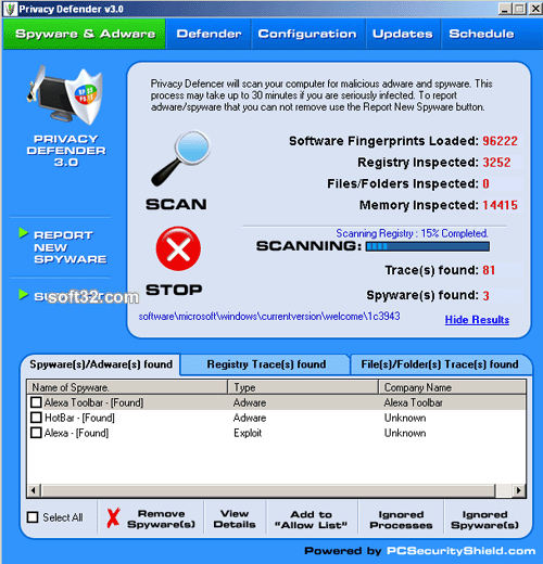Privacy Defender - stop Spyware Screenshot 2