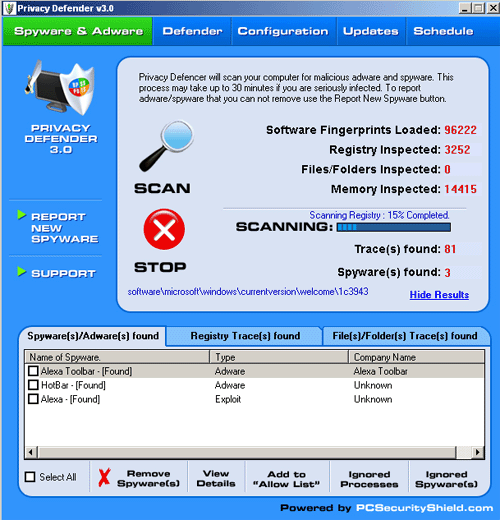 Privacy Defender - stop Spyware Screenshot