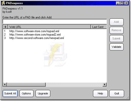 PADexpress Screenshot