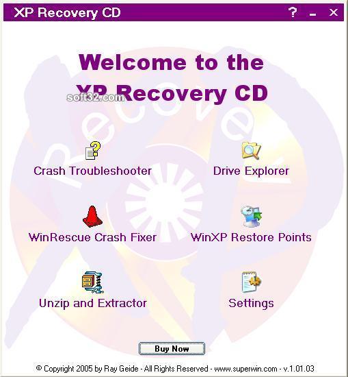 XP Recovery CD Maker Screenshot 3