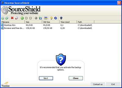 SourceShield Screenshot