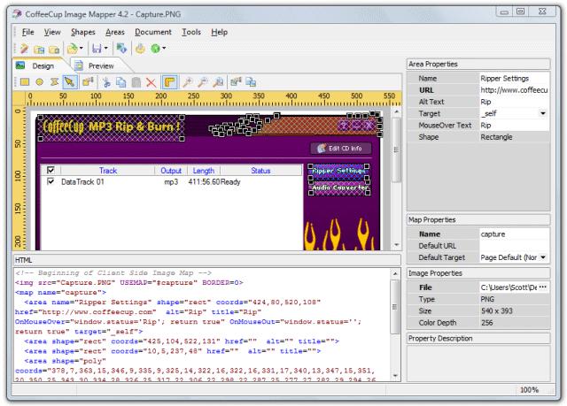 CoffeeCup Image Mapper Screenshot