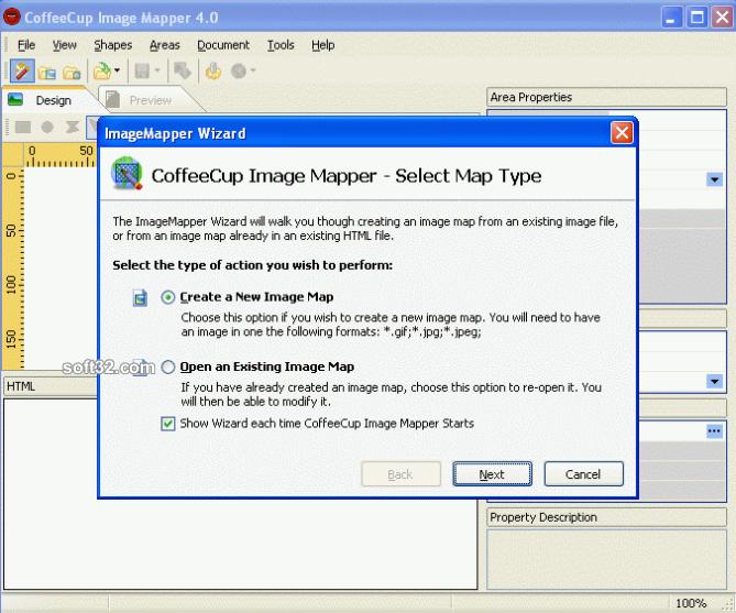CoffeeCup Image Mapper Screenshot 2