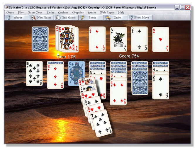 Solitaire City for Windows Screenshot