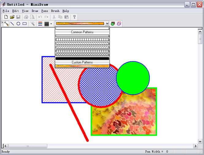 PatternCombo ActiveX Control Screenshot