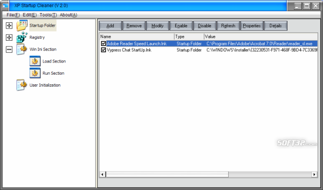XP Startup Cleaner Screenshot 5