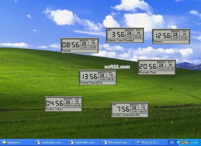 CubeMultiClock Screenshot