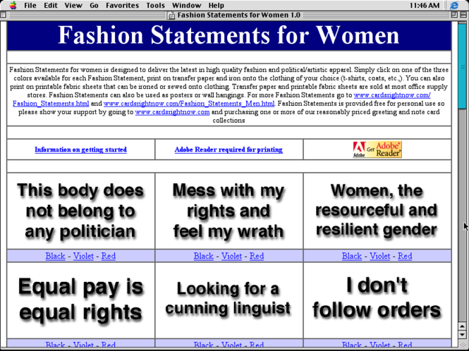 Fashion Statements for Women Screenshot