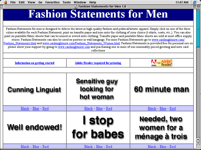Fashion Statements for Men Screenshot