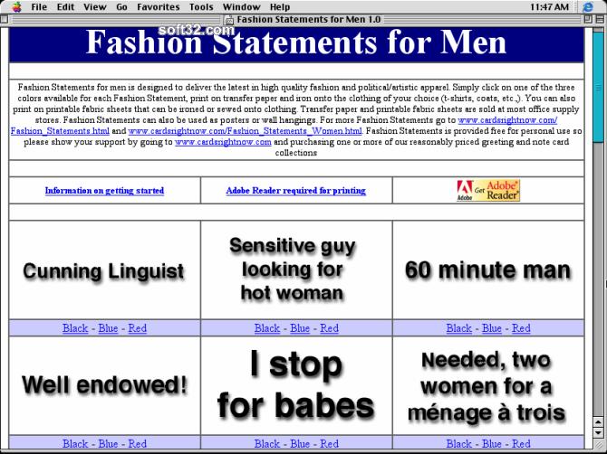 Fashion Statements for Men Screenshot 2