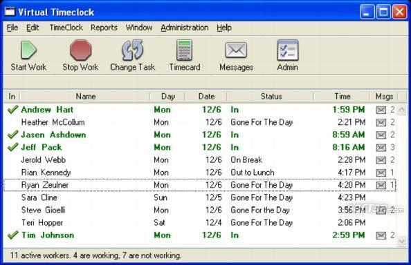 Virtual TimeClock Screenshot 1
