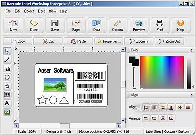 Barcode Label Workshop Enterprise Editio Screenshot 3
