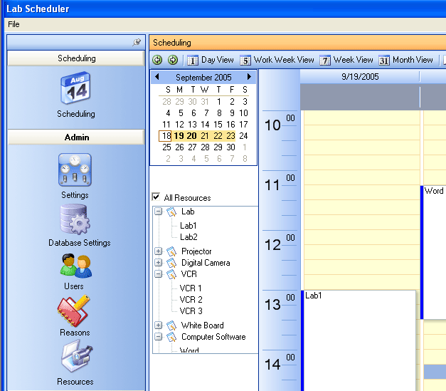 Technology and Media Scheduler Screenshot