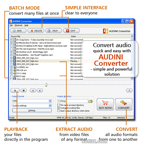 AUDINI Converter Screenshot