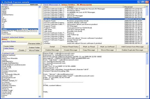 Outlook Express ActiveX Control Screenshot 2